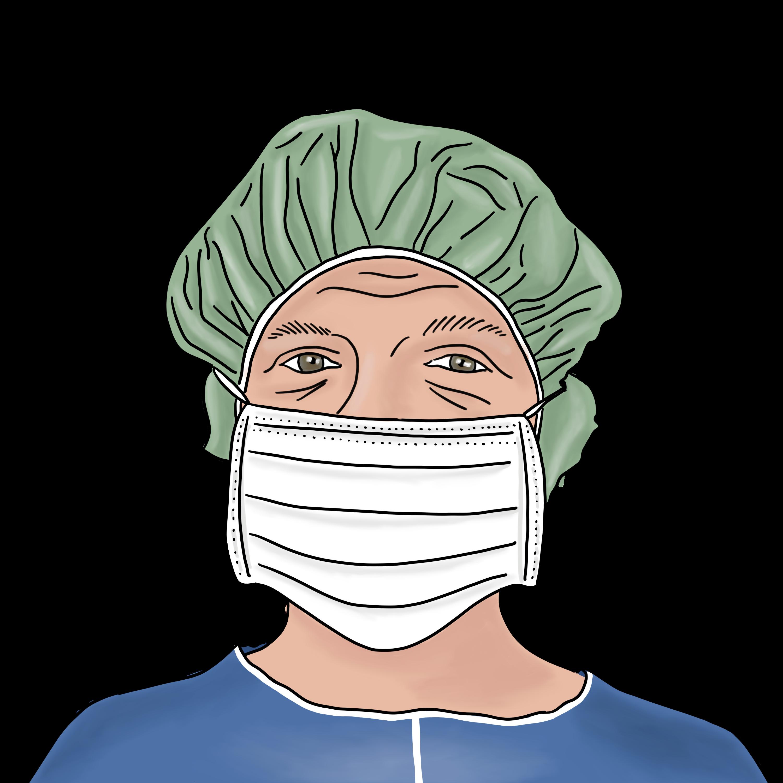 Nizell Patientenset Mundschutz Haube und Hemd